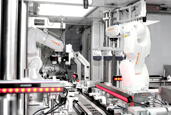 Automated Assembly Machine with KUKA robots